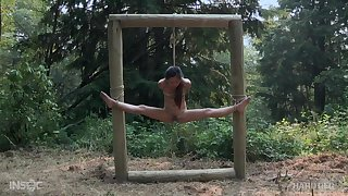 Forest hardcore bondage fetish scene with Asian babe Elle Voneva