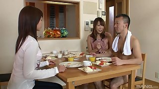 Lucky guy gets to play with two smoking hot Asian chicks