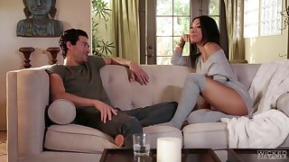 Asa Akira is a hot Asian babe who cannot resist a fellow's cock