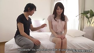 Japanese chick Noeru Mitsushima performs her fucked up and creampied twat