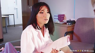 Rina Ellis is a horny doctor craving to feel a massive cock