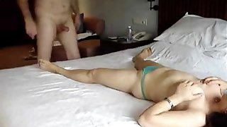 Amateur Asian Wife and White Husband