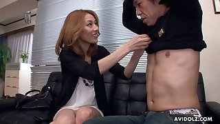 Asian vixen Sally Yoshino wants some dick coupled with she always gets what she wants