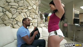Dude loves small waist increased by nearly things in his face increased by Mandy Muse's ass is hot