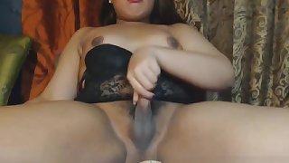 Charming shemale cock playing slut
