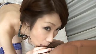 Asian group toying and cowgirl riding