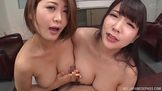 Busty Japan dolls in full POV special on cam