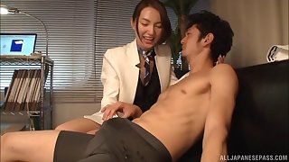 Perfect blowjob gift from Workmate Mirei Nakagawa with hot ass