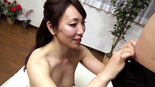 Subtitled notions Japanese amateur double handjob blowjob