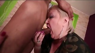 Cock-Hungry Grandma Gobbles Up Skinny Asian Boy