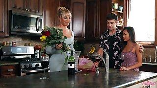 Vina Sky and boyfriend's stepmom, Dana Dearmond, represent extensively sexual tension