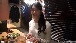 Gentle fucking foreigner behind with adorable Japanese GF Rinon Miyazaki