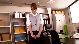 Japanese secretary Kirara Asuka gets fucked off out of one's mind her horny boss