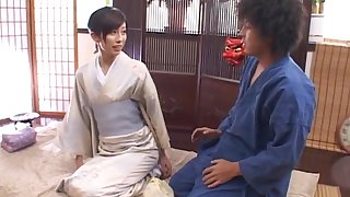 Wild fucking on make an issue of bed with hot ass Japanese housewife Noa