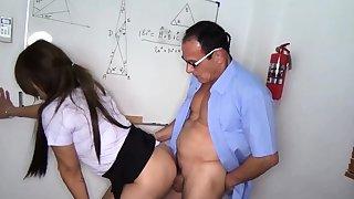 Thai student fucks her teacher in mixed bag