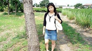 Japanese teen, Karin Asahi got fingered, uncensored